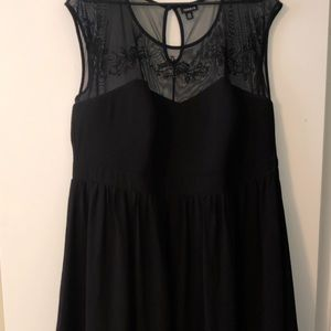 Black dress with sweetheart neck line